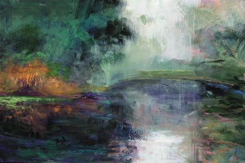 Foggy Pond 48x72