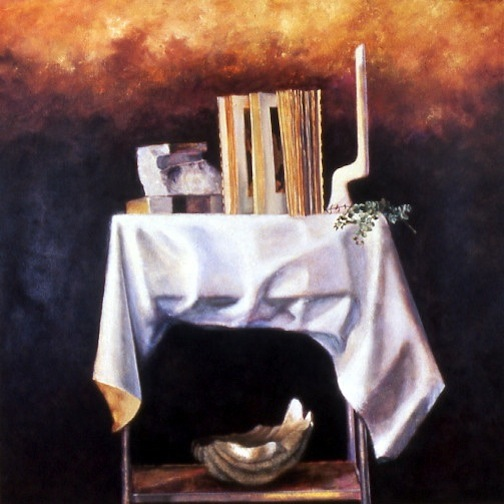 Still Life with Open Book 60x60