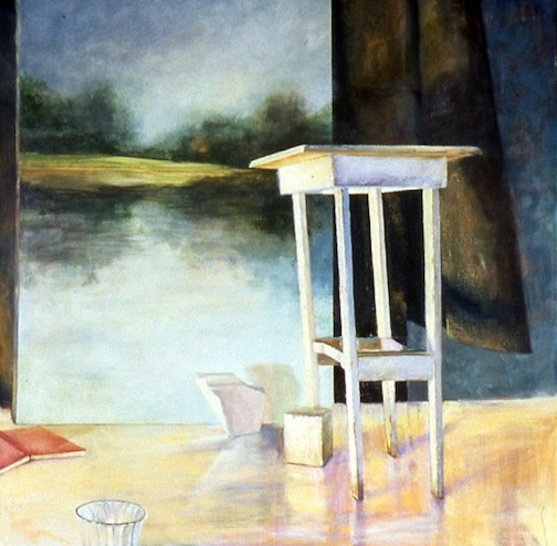 Unstable Table & Painting 55x55