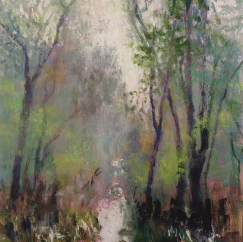 forest in spring  46 x 46