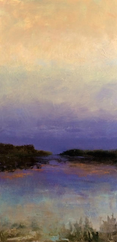 purple sunset  48 x 24